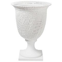 Potiche Palladio, Matt White Ceramic, Italy