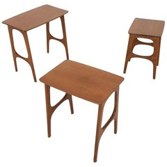Danish Modern Teak Nesting Tables or Mimiset, Denmark, 1960s