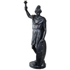 Large English Regency Faux Bronze Plaster Figure, circa 1810