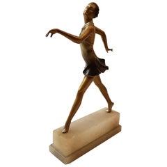 Art Deco Dancer Bronze Sculpture, 1900s