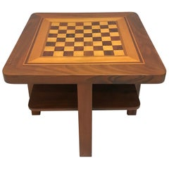 Bauhaus Chess Table, Walnut and Maple, Germany, circa 1930