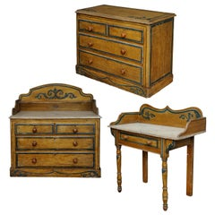 Mid-19th Century Suite of English Painted Furniture, circa 1860