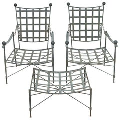 Pair of Lounge Patio Chairs by Mario Papperzini for Salterini