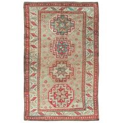 Antiker kaukasischer Kazak Teppich, um 1900