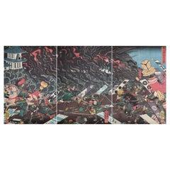 Japanese Triptych of Prints  by Utagawa Yoshikazu 'Active 1848-1870'
