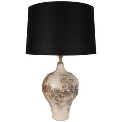 Midcentury Organic Ceramic Topographic Lamp by Lee Rosen for Design Technics