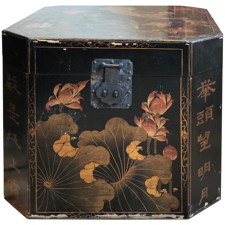 20th Century Pair Of Oriental Style Wood Crates