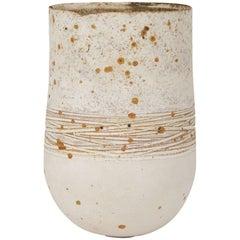 Contemporary Stephanie Black Hand Thrown Studio Vase, circa 2007