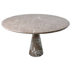 Mid-Century Modern Angelo Mangiarotti Marble Dining Table 1972 by Skipper, Italy