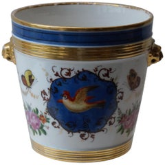 Old Paris Hand Painted Porcelain Flower Pot, France, circa 1880