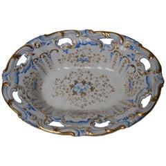 Antique German Porcelain SPM Berlin Oval Dish