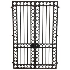 Important 19th Century French Iron Entrance Gates