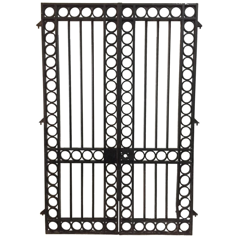 Important 19th Century French Iron Entrance Gates For Sale