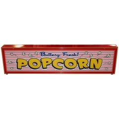 Custom Popcorn Light up Advertising Sign