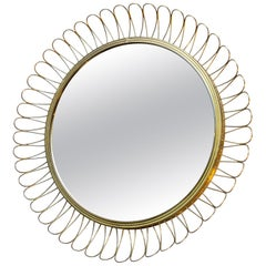 Brass Mirror in the Style of Josef Frank