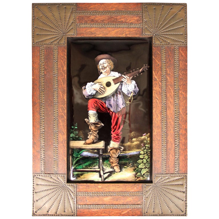 Fine Late 19th Century French Enamel Plaque For Sale