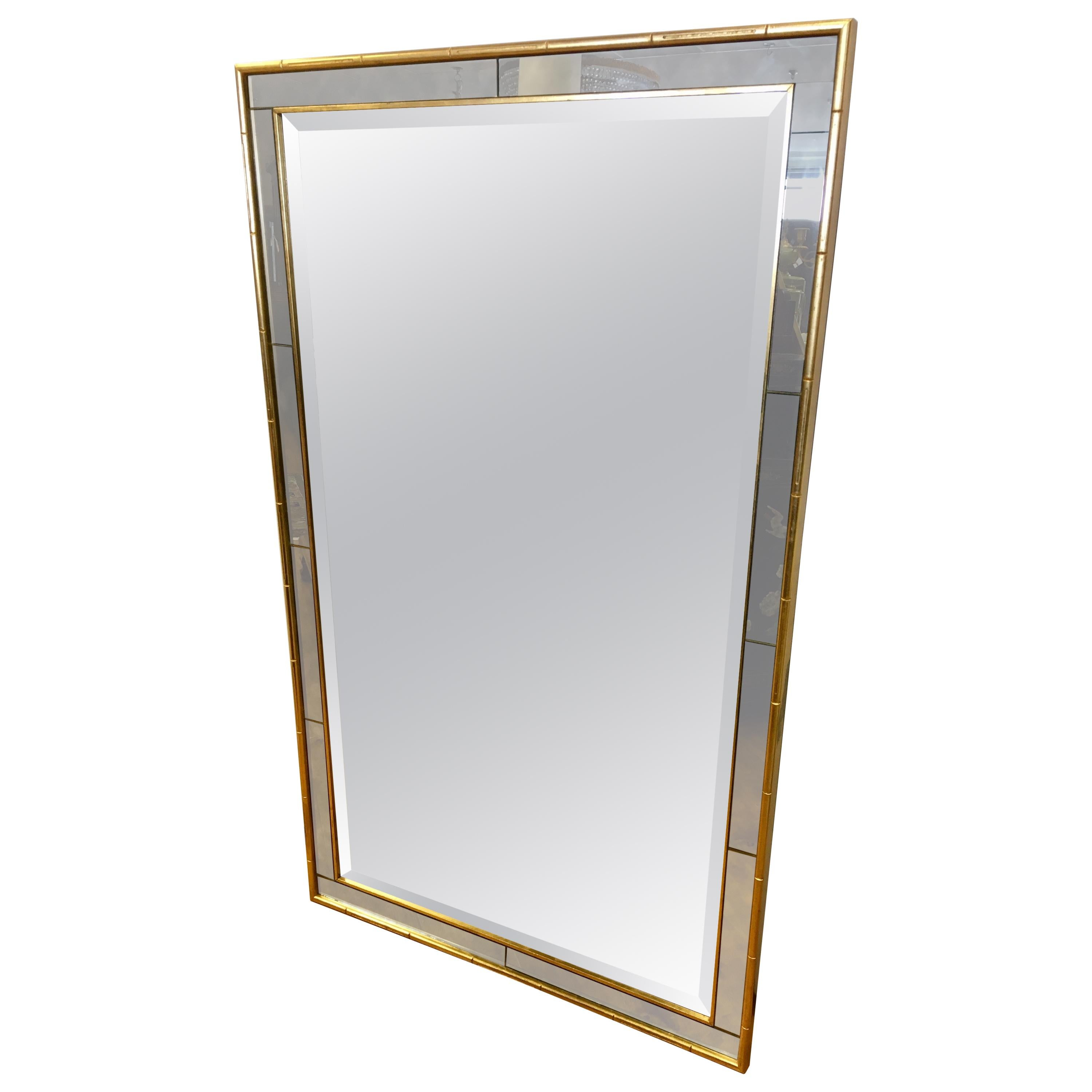 Labarge La Barge Large Gold Faux Bamboo Mirror