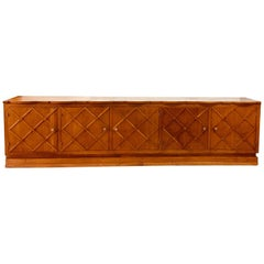 "French Midcentury ""Croissilon"" Lattice Front Oversized Sideboard _SALE_"