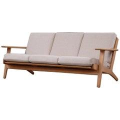 Hans Wegner 3-Seat Oak Sofa