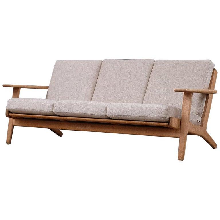 Hans Wegner 3-Seat Oak Sofa For Sale