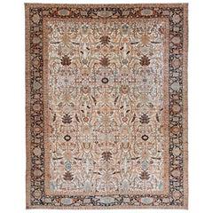 Oversize Vibrant Persian Heriz Carpet