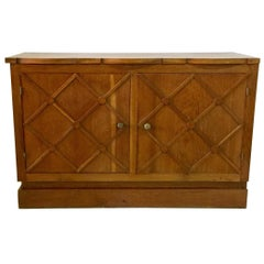 "French Midcentury ""Croissilon"" Lattice Front Sideboard"