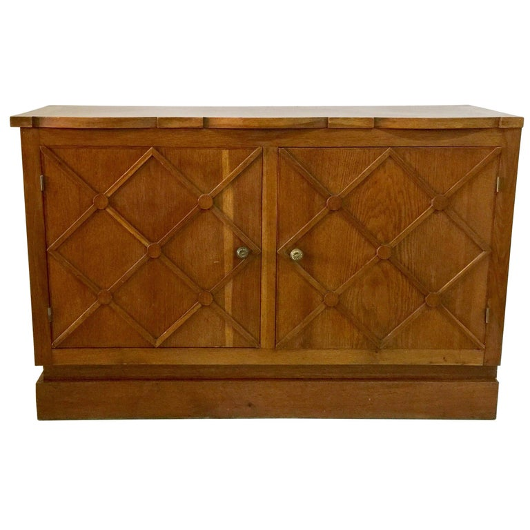 """French Midcentury """"Croissilon"""" Lattice Front Sideboard For Sale"""