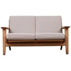 Hans Wegner 2-Seat Oak Sofa