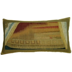 Antique Brussels Tapestry Pillow, circa 17th Century 1722p