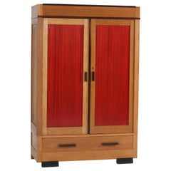 Oak Art Deco Haagse School Armoir or Wardrobe by Fa. Drilling Amsterdam, 1920s