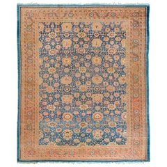 Blue Antique Persian Bakshaish Oversize Rug