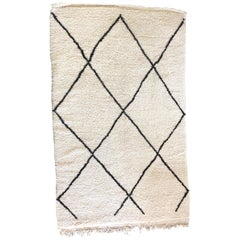 Hand Knotted Beni Ourain Thick Wool Rug from Morocco's Atlas Mountains