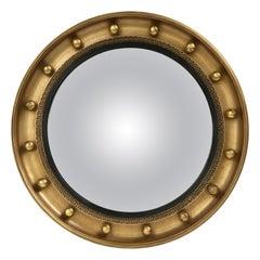 Englische Runde vergoldete gerahmt Konvexspiegel