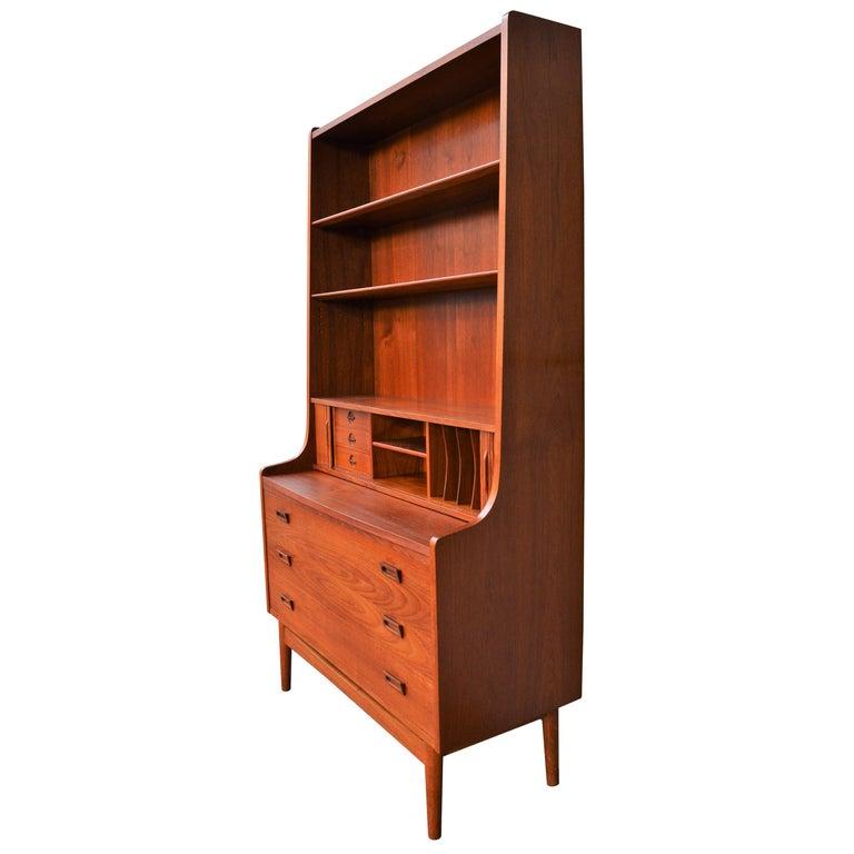 Danish Modern Teak Secretary/Dresser by Johannes Sorth for Bornholm Mobelfabrik For Sale