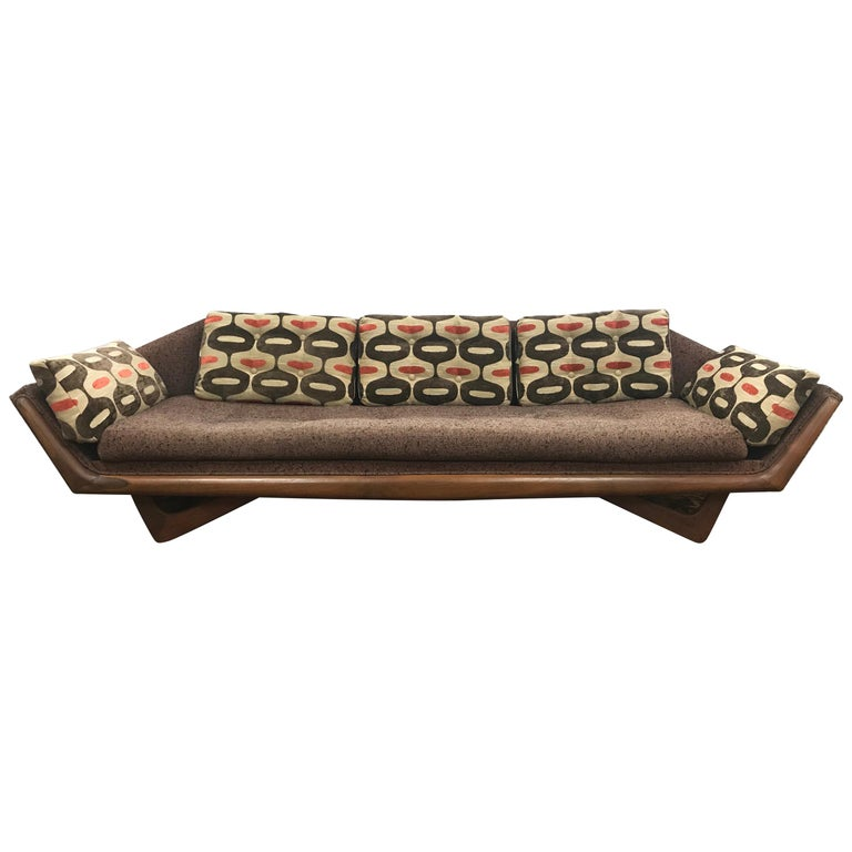 Craft Associates Adrian Pearsall Designed Famed Extra Large Gondola Sofa For Sale