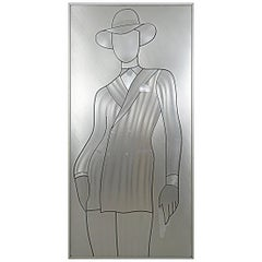 David Bowie Wall Piece Etched in Aluminium
