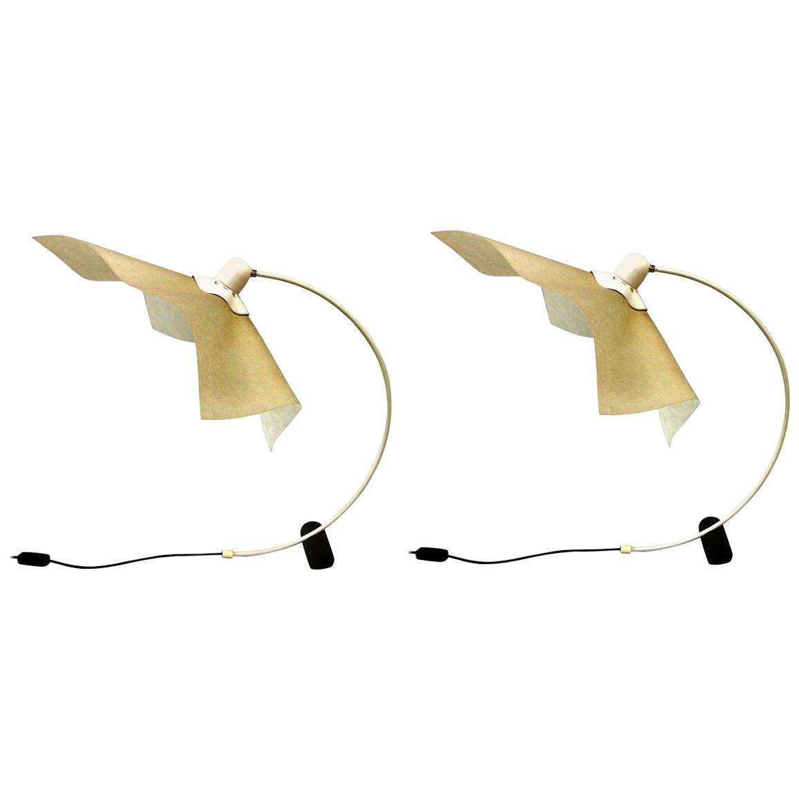 Pair of Italian Mid-Century Modern Table/Desk Lamps 'Area 50' by Mario Bellini