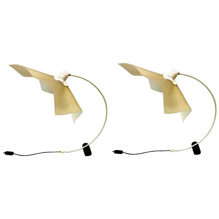 Pair of Italian Mid-Century Modern Table/Desk Lamps 'Area 50' by Mario Bellini For Sale