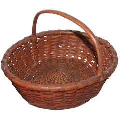 19th Century Early Basket with Kick Up Base