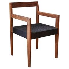 Oiled Walnut Handwoven Shaker Tape Faceted Dining Chair by Casey McCafferty