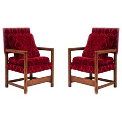 Pair of English Renaissance Style Armchairs