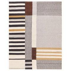 Vintage Flat Woven Kilim Carpet by Artist Alice Kagawa Parrott