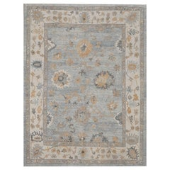 Room Size New Hand Knotted Turkish Oushak Rug