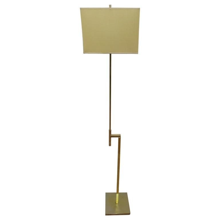Laurel Brass Floor Lamp For Sale