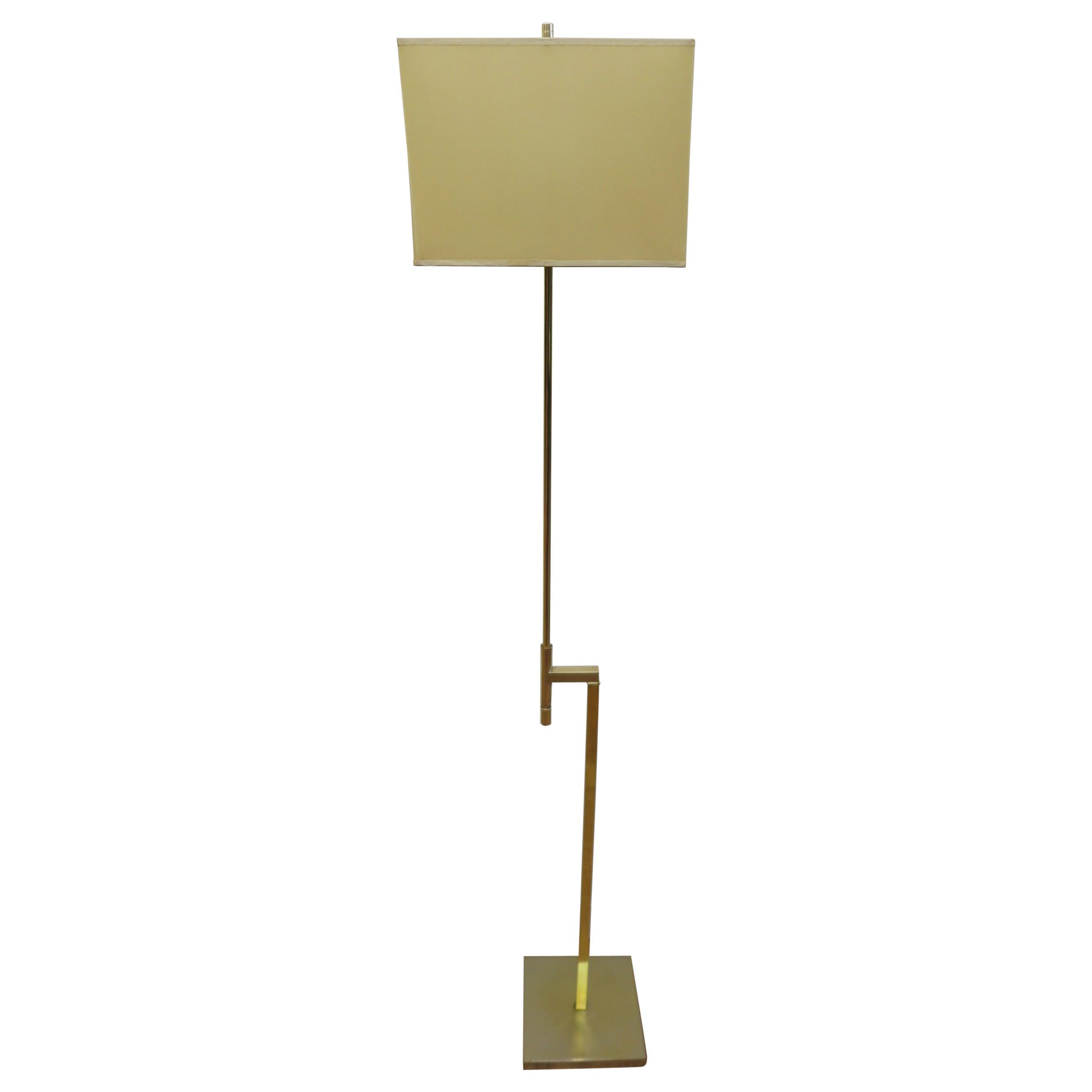 Laurel Brass Floor Lamp
