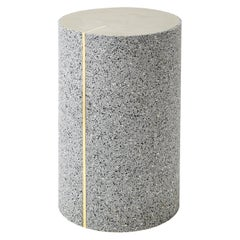 Rubber Cylinder in Gris Side Table, 1stdibs New York
