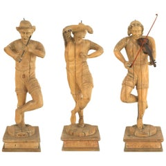 Set of 3 Italian Renaissance Musical Figures