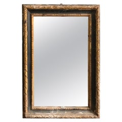 18th Century Italian Black and Gold Frame with Later Mirror