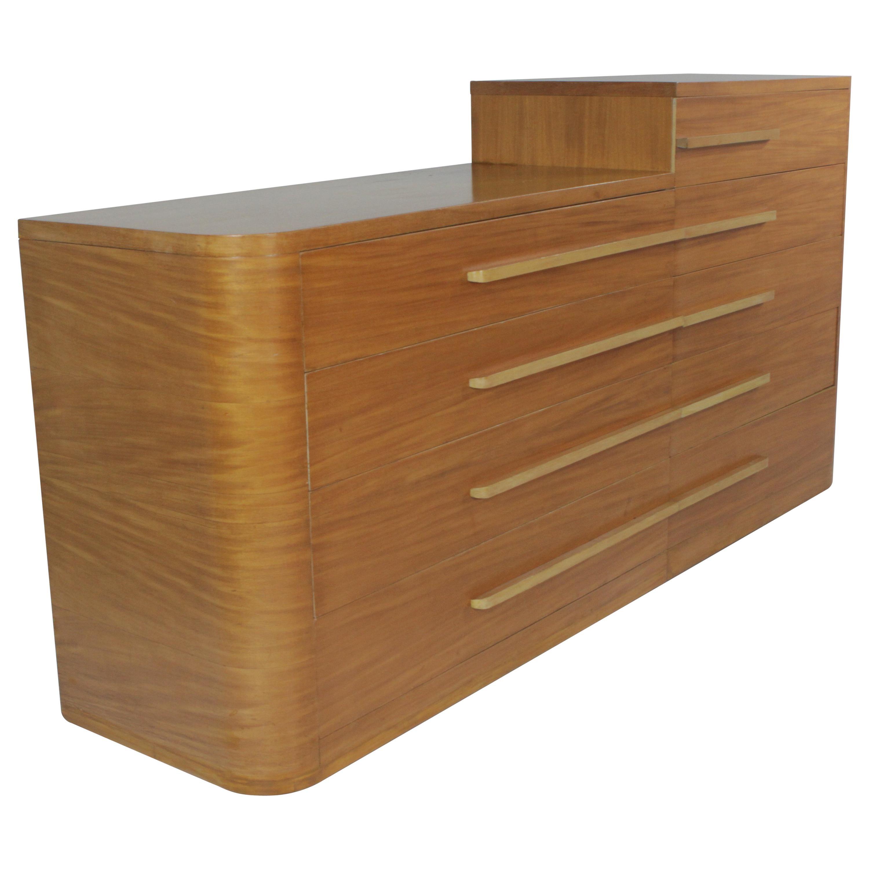 Donald Deskey for Widdicomb Moderne Art Deco Asymmetrical Dresser Set