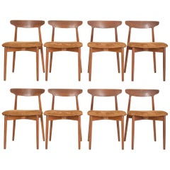 Set of Eight Harry Ostergaard, Model 59 Teak Dining Chairs